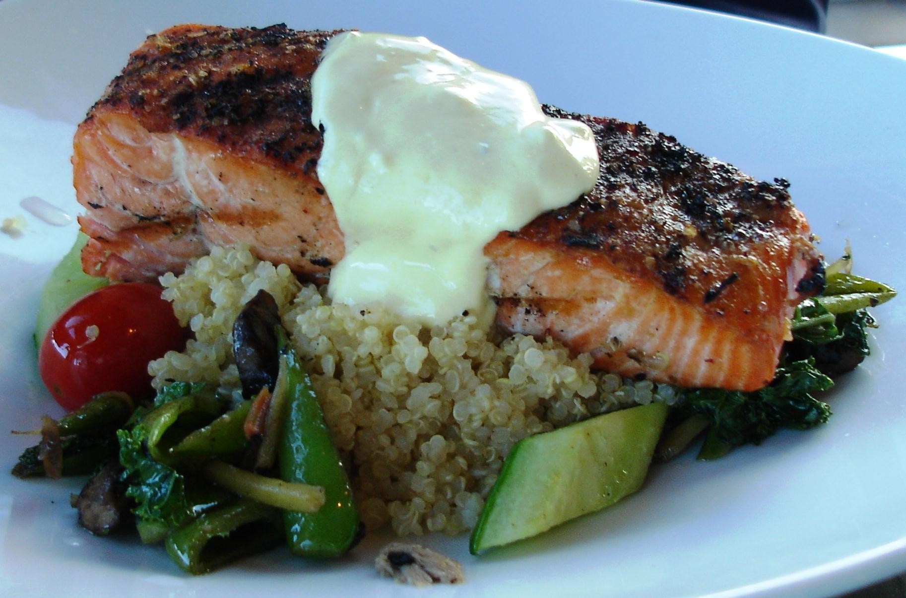 Saffron Salmon, Grilled Wild Salmon Filet