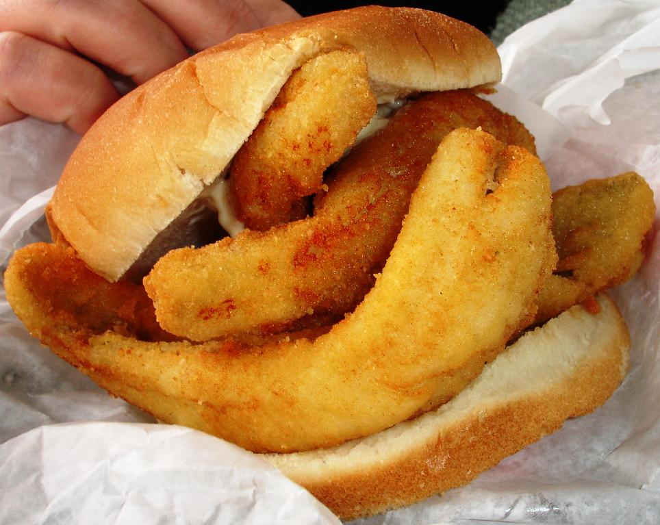 New Sandusky Fish Company, Yellow Lake Perch Sandwich