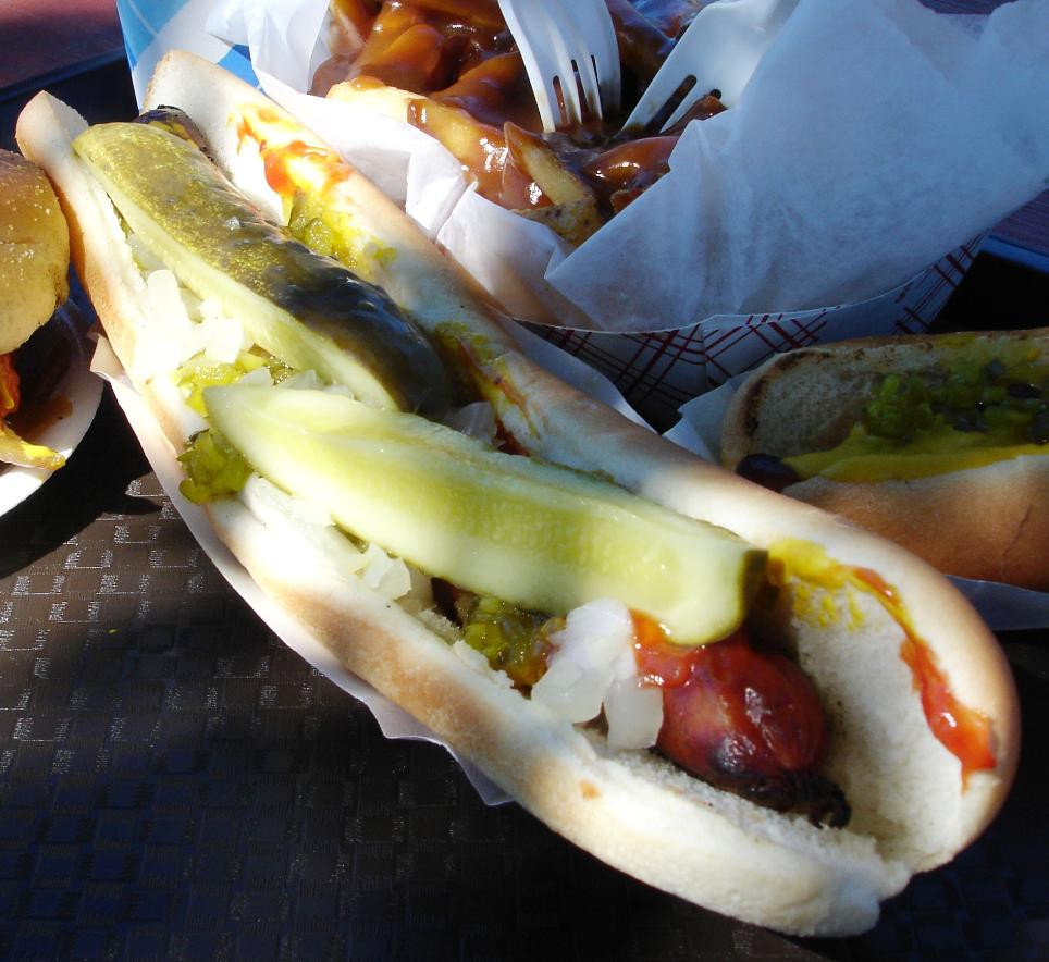 Louie's Foot Long Hot Dogs