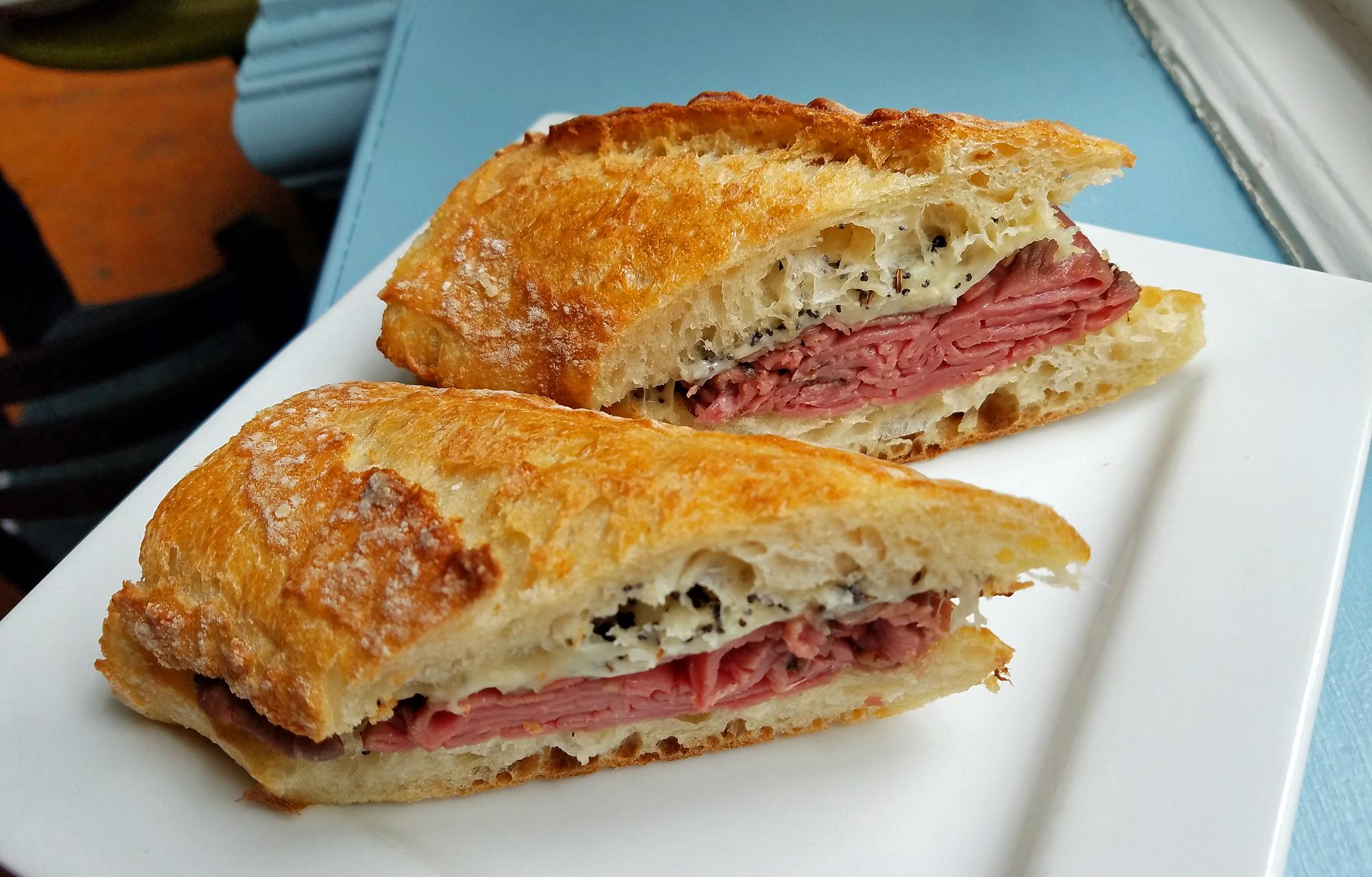 Amelie's French Bakery, Seeded Roast Beef Sandwich