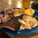 Central BBQ, Combo Plate with Ribs