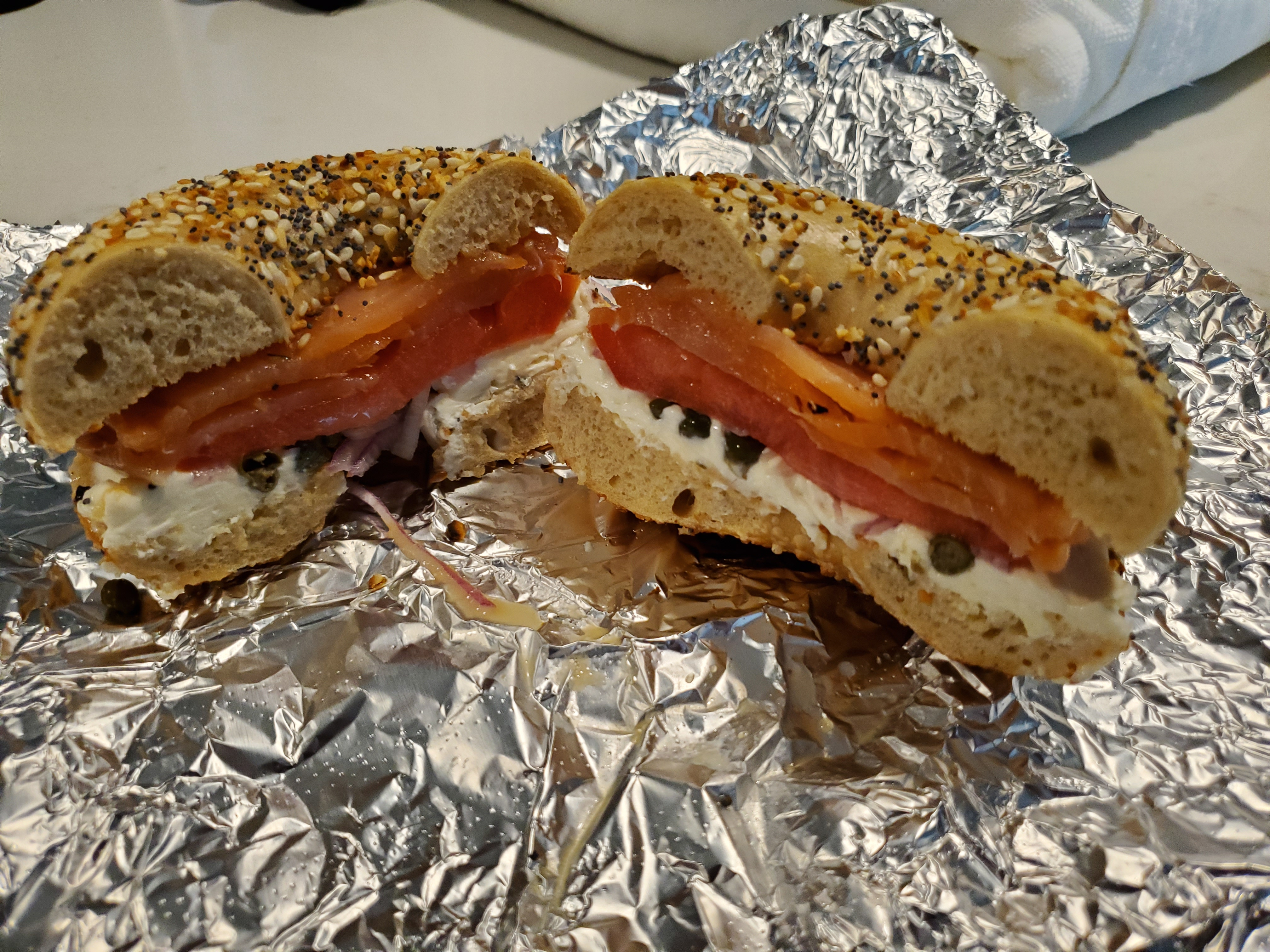Rockstar Bagels - The Lox with the Works